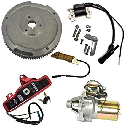 Auto Express New Fits Honda GX270 9HP Electric Start KIT Starter Motor &  Solenoid ON/Off Switch