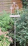 Caged Birdbath on Stand