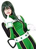 ROLECOS Tsuyu Asui Wig Froppy Cosplay Long Straight Anime Party Wig Green ML313