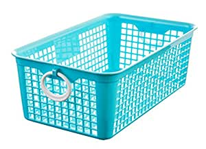 Storage Baskets, PYRUS Mini Plastic Storage Baskets Organizer with Little Handles For Home and Kitchen(Random Color)