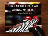 Trendy Accessories Inspirational Quote Red Shoes Design Pattern Print Desktop Office Silicone Mouse Pad