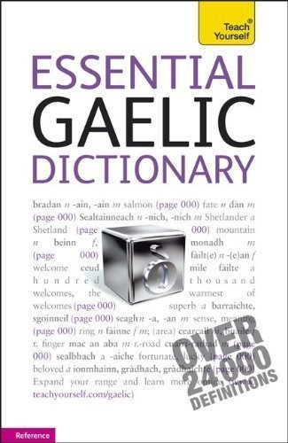 (Essential Gaelic Dictionary: A Teach Yourself Guide by Boyd Robertson (Jan 12)