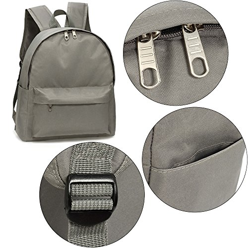 New Grey New Faux Backpack Lightweight Rucksack For Girls School College Bags Teenagers Design Boys Leather look 1 wnqYapTF