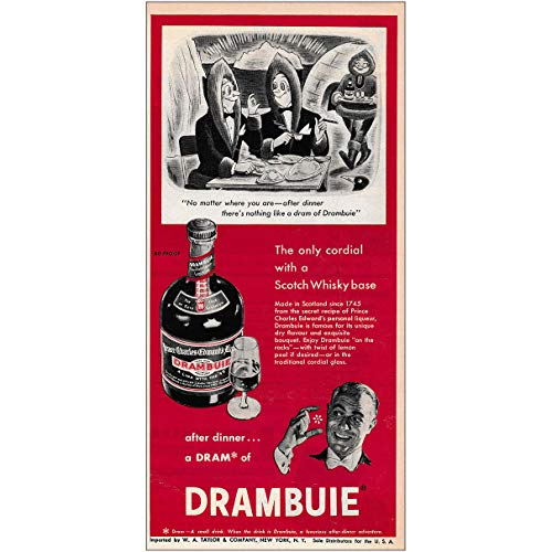 RelicPaper 1953 Drambuie: Only Cordial with a Scotch Whisky Base, Drambuie Print Ad