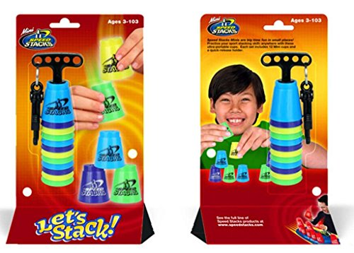 Collectors Cup Set (Speed Stacks MINI Toy Play Set of 12 Ultra Portable Cups: Blue, Purple, Yellow, Green)