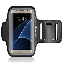 GreatShield [Fit] Stretchable Neoprene Sport Armband with Key Storage for Galaxy S8/S7, HTC One M9/M8/M7, LG G4/G3/G2, Moto G5, Nokia 3 , Google Nexus 5(Black)