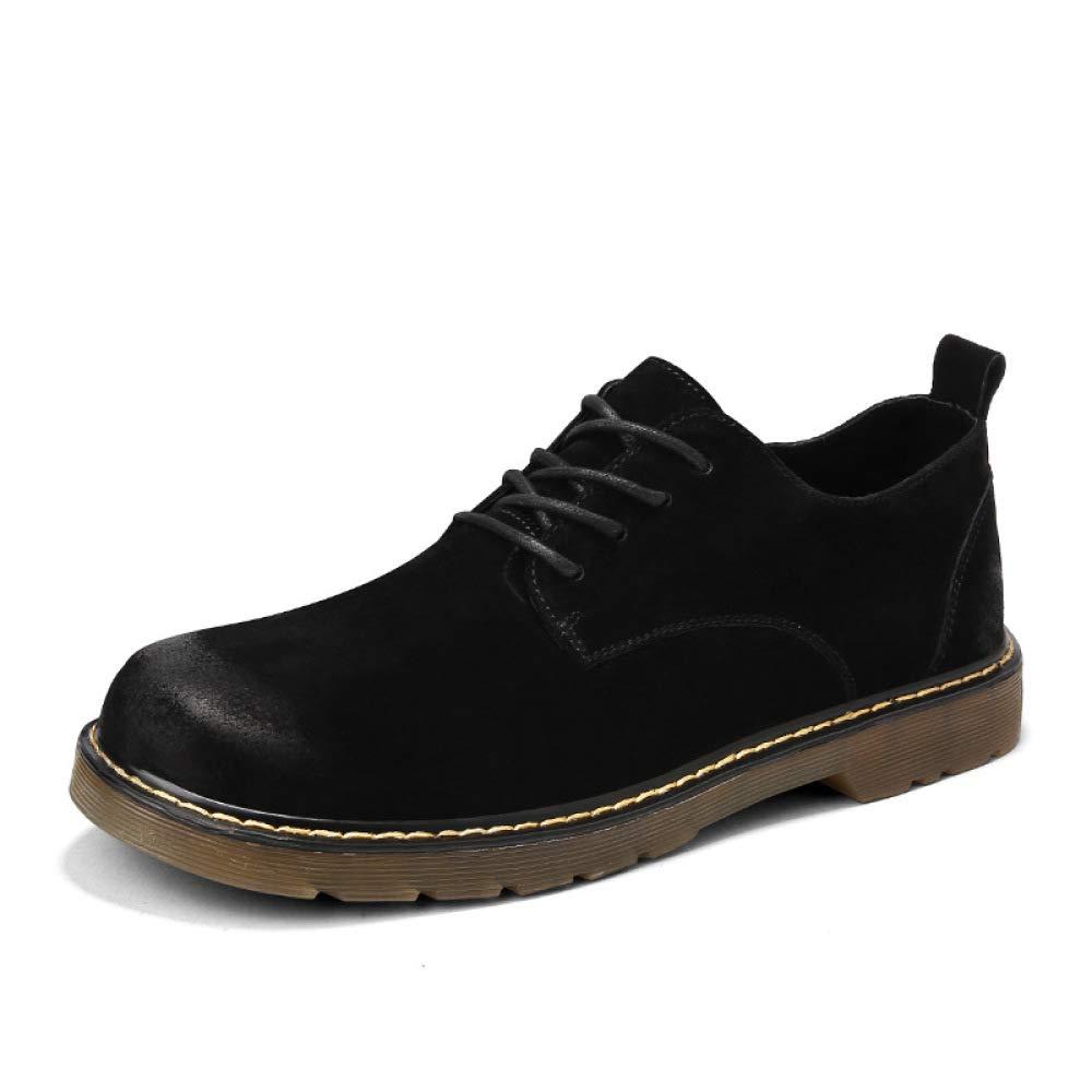 YXLONG Leder Martin des Herbstes Männer Beschuht Geschäftsmänner England-Retro- Lederne Schuhe der Geschäftsmänner Beschuht Beiläufige Schuhe der Männer schwarz 4342b8