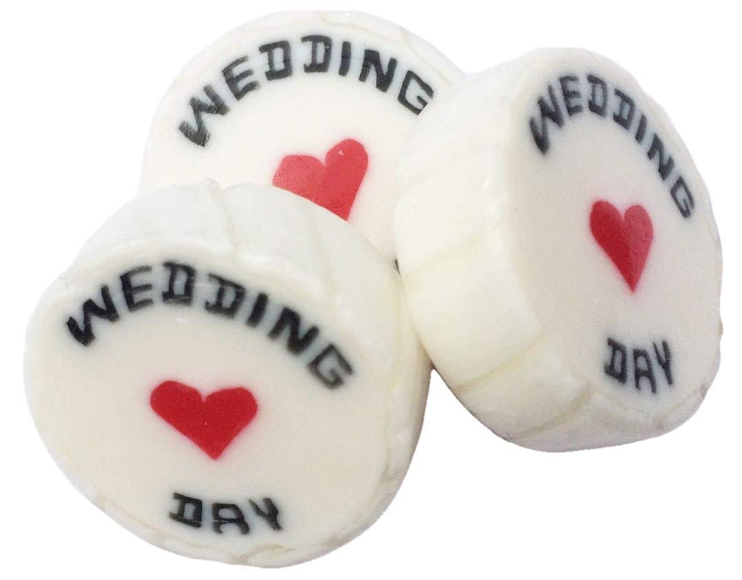 50 Assorted Wedding Favour Rock Sweets - over 20 different colours, flavours and messages
