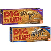 MindWare Dig It Up! T-Rex and Triceratops: Set of 2