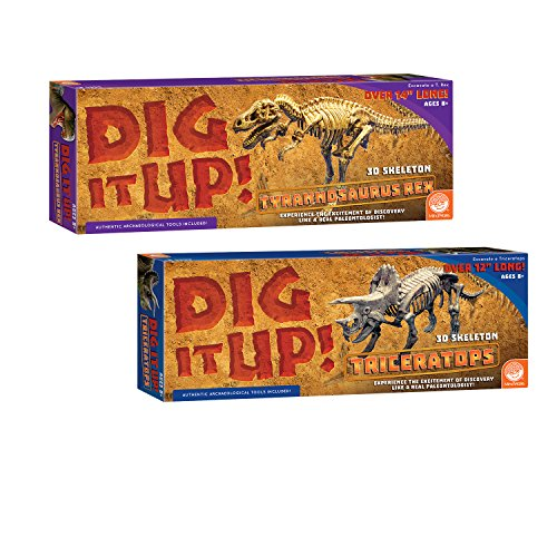 MindWare Dig It Up! T-Rex and Triceratops: Set of 2 ()