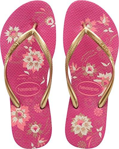 Women's Havaianas Slim Organic Flat Flip Flops - Navy Blue UK 6/7 - BRA 39/40 Raspberry - Uk Havaianas