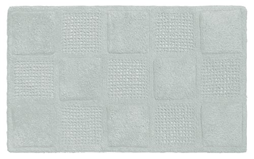 Carnation Home Fashions Waffle Weave 100% Cotton Bath Mat, Spa (Carnation Home Fashions Waffle)