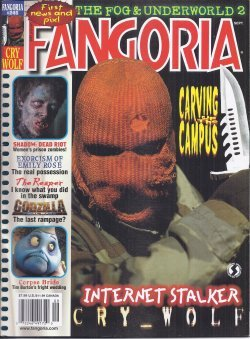 FANGORIA #246, September, Sept. 2005 (Cry Wolf; Reaper; Shadow: Dead Riot; Corpse Bride; Emily Rose; Roost; Cannibal Girls)]()