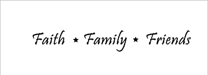 Amazon faith family friends family wall quote words faith family friends family wall quote words sayings removable publicscrutiny Choice Image