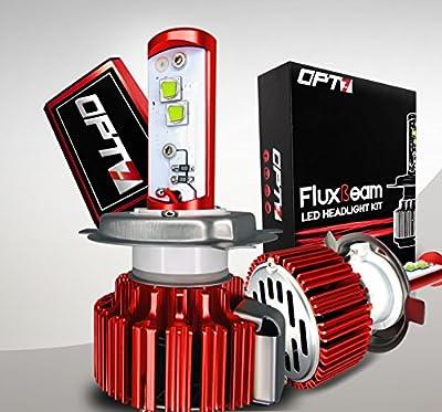 OPT7 ATV UTV Side LED Headlight Kit H13 6000K 6K Xenon Blue Light Bulbs Offroad