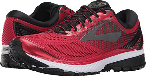 Brooks Men's Ghost 10 Toreador/Black/Metallic Charcoal 8.5 D US