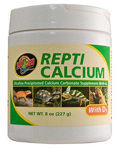 Zoo Med A34-8E Repti Calcium mit D3, 227 g, Vitaminpulver mit Kalzium für Reptilien