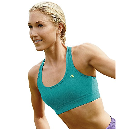 Champion Double Dry Absolute Workout II Sports Bra Wirefree L, Voyage Teal Heat