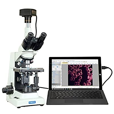 OMAX 40X-2000X USB3 18MP PLAN Trinocular Darkfield Super Bright LED Lab Microscope for Live Blood