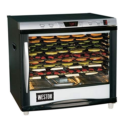 Weston Pro Series Digital Dehydrator 28-0301-W, 80 Liter 12 Tray with Timer & Light
