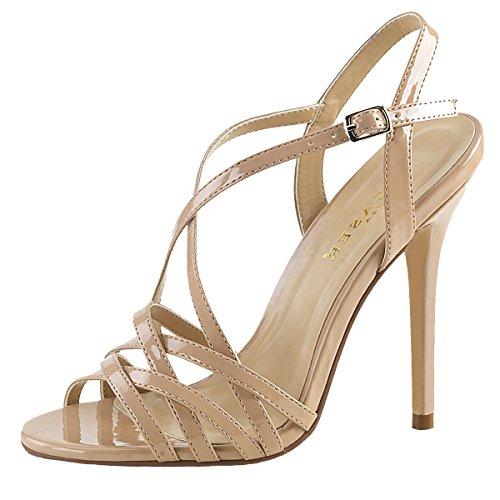 Heels-Perfect Sandalette, Damen, Beige (Nude) Beige (Nude)