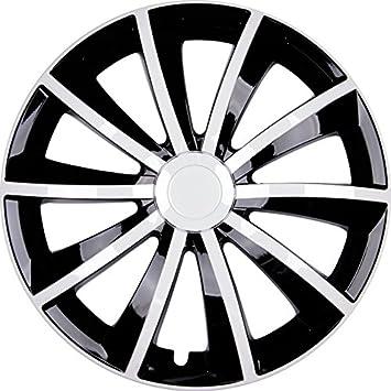 Premium Wheel Trims Model: Gral Wheel Trims Set of 4 Black/White: Amazon.co.uk: Car & Motorbike