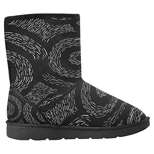 Boots Winter Spiral Multi Boots Elegant Scandinavian 1 Designed Unique Snow Design InterestPrint Womens Comfort 4WngqqEw