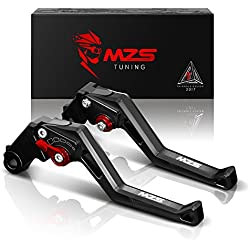 MZS CNC Brake Clutch Levers for Yamaha MT-07/FZ-07 14-17,FZ1 Fazer 06-13,FZ6 Fazer 04-10,FZ6R 09-15,FZ8 11-15,FZ-09/MT-09/SR 14-17,XJ6 Diversion 09-15,XSR700 ABS/XSR900 ABS/XV950 Racer 16-17 Black