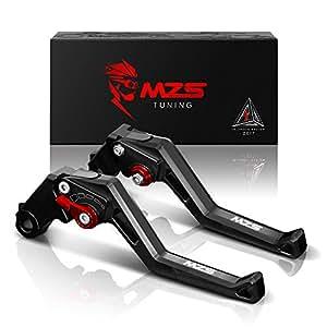 MZS Adjustment Brake Clutch Levers for Yamaha FZ-10/MT-10 2016-2017,FJ-09/MT-09 Tracer 2015-2017 Black