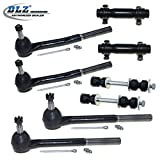 DLZ 8 Pcs Front Kit-2 Inner 2 Outer Tie Rod End+2 Adjusting Sleeve, 2 Sway Bar for 1985-1989 Chevrolet Astro/GMC Safari, 1990-2005 Chevrolet Astro RWD/GMC Safari RWD, 1977-1996 Chevrolet Caprice