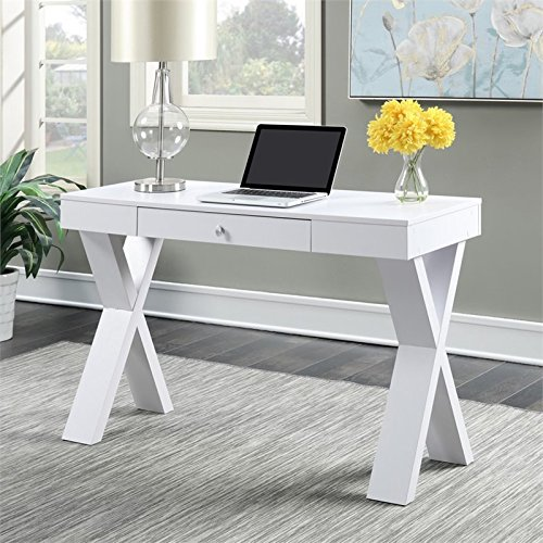 Newport Leather Bench (Convenience Concepts Newport Desk with Drawer, White)