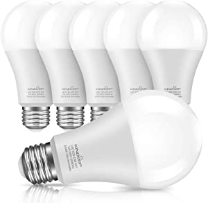 Kindeep A21 LED Bulbs, 23W Light Bulbs(150W-200W Equivalent), Soft/Warm White 3000K, E26 Base 2500 Lumens High Brightness LED Bulbs for Home Lighting, Not-Dimmable 6 Pack