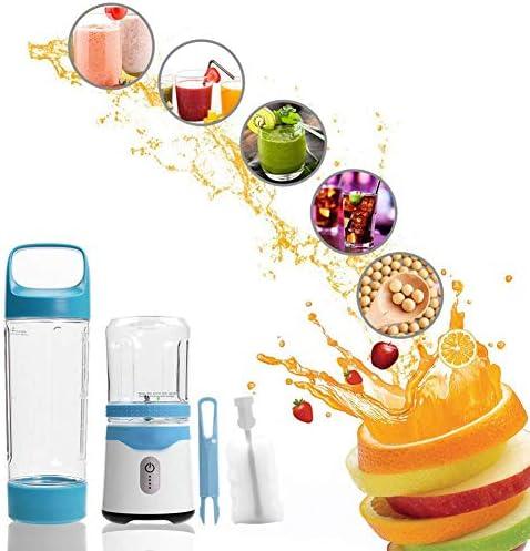 LJJ persoonlijke beweegbare blender USB Juicer oplaadbare reis-Juice 350ml 500ml 6 blades babyfood mixer ijs smoothie, voor reizen, fitness center, kantoor, roze