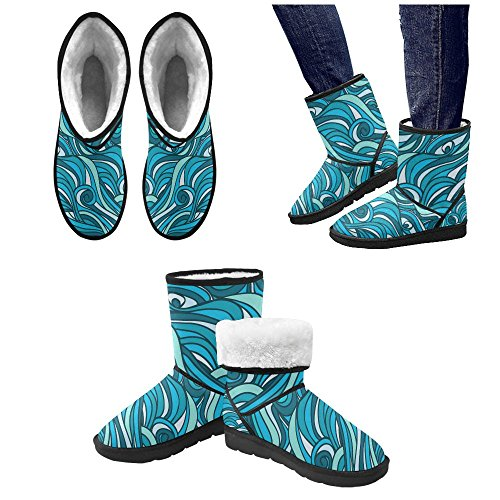 On Pattern Color8 Boots Print for Flowers Womens InterestPrint Size Snow 5 Ladies Classic 12 5 Colorful nUH0q8Z