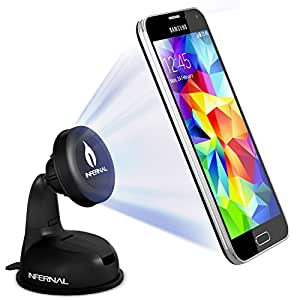 Infernal Innovations Magnetic Phone Mount with 75mm Adhesive Disk for Samsung Galaxy S5/S4/S3, Note 4/3, iPhone 6 & Plus/5S/5C/4S, Nexus 6/5, HTC One & Many More