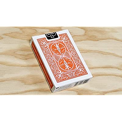 Orange Rider Back Bicycle Playing Cards Poker Size Deck USPCC: Sports & Outdoors
