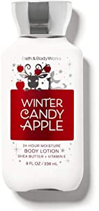 Bath and Body Works Body Care - Winter Candy Apple - 24 Hour Moisture Body Lotion w/Shea Butter + Vitamin E - Full Size 8 fl oz