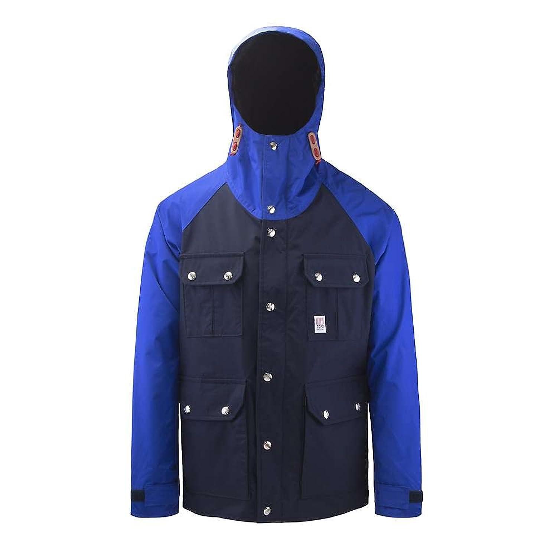 トポデザイン アウター ジャケットブルゾン Topo Designs Men's Mountain Jacket Navy / Roy eek [並行輸入品] B079KXXSGX  Large