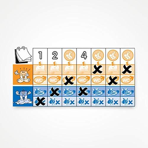 Kalender und Stickerbogen