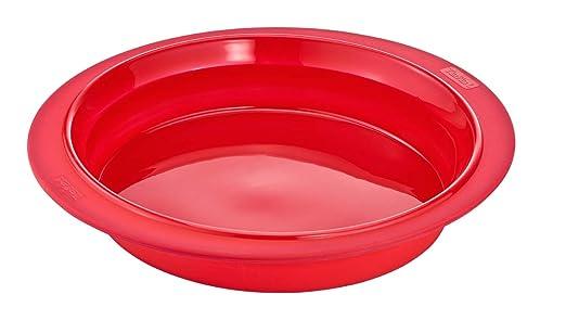 Tefal J4094215 Molde de Pastel, Apto para microondas, Horno y Nevera, Entre 40º C y 250º C, Silicona Platinium Antiadherente, Rojo, 24 cm