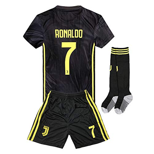 C Ronaldo #7 Juventus Kids/Youth Away Soccer Jersey for sale  Delivered anywhere in USA