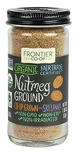 Frontier Ground Organic Fair Trade, Nutmeg, 1.9 Ounce