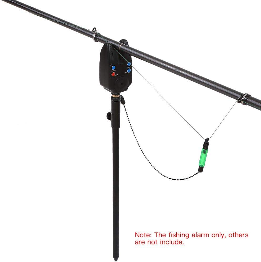 1 Bolsa de Almacenamiento 4 Piezas Swinger 4 Piezas Cabezas del Resto de Ca/ña de Pescar 4 Piezas Palo de Zumbido Lixada Conjunto 4 Piezas de Alarmas de Mordida de Pesca sin Cables