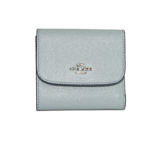 Coach Aqua Glitter Crossgrain Leather Small Compact Wallet 15622 by Coach