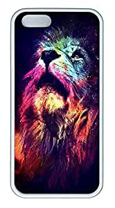 taoyix diy iPhone 5 5S Case Abstract Lion TPU Custom iPhone 5 5S Case Cover White