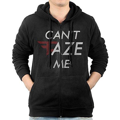 (Men's Cant Faze Me Full-Zip Hoodie Sweatshirt XL )