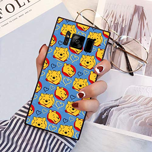 DISNEY COLLECTION Case Compatible Samsung Galaxy S8 Plus Winnie The Pooh Square Chic Soft Protective Shockproof Bumper Back Cover Case for Samsung Galaxy S8 Plus