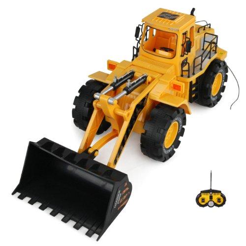 RC ferngesteuerter Bagger Baustellen-Fahrzeug, Auto-Modell mit Schaufel Radlader, 1:10 Ready-To-Drive, Schwenkbare Schaufel, Neu