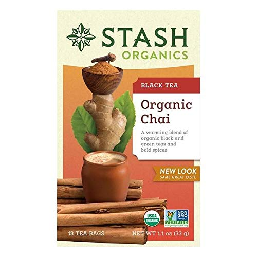 Stash Tea Organic Green Black Chai Tea - 18 ct