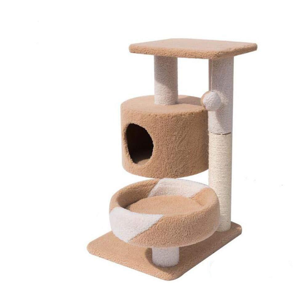 Axiba Alberi di gatto Protezione dell'ambiente legno massello sisal piattaforma gatto di peluche gatto nido afferrare colonna 65  50  75 cm